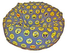 Shop for Ahh Products Emojis Black/Grey/Yellow Anti-pill Fleece Washable Bean Bag Chair. Get free delivery On EVERYTHING* Overstock - Your Online Furniture Shop!