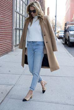 Chanel Slingbacks- NYC Street Style- Alexander Wang Jeans - 5 of 13