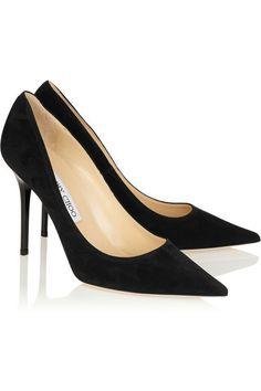 84d6d663b63 Jimmy Choo - Abel suede pumps. Black High Heel PumpsBlack Suede ShoesBlack  ...
