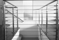 very modern cable rail system, around stairway.mixing with other less modern finishes? Banisters, Railings, Cabin Ideas, House Ideas, Stainless Steel Cable Railing, Glass Balcony, Bedroom With Sitting Area, Upstairs Bedroom, Tree Wall