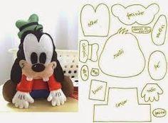 Resultado de imagen de Moldes Baby Disney