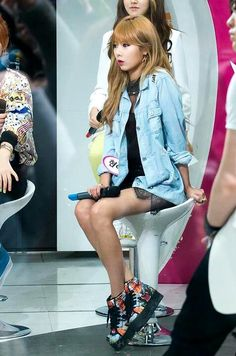 Hyuna. I really love HyunA's fashion. It's just really cute (^∇^)