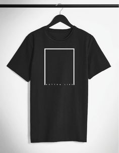 BOTTOM LINE. Minimalistic T-shirt by SIIKALINE.