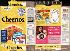 General mills cereal boxes | General Mills - Cheerios - Silly Face set - cereal box - 1974 | Flickr ...