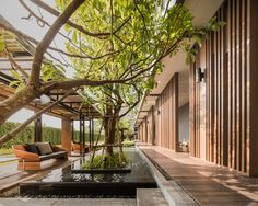 The Base Khon Kaen by Sansiri – Wison Tungthunya & W Workspace Tropical Architecture, Landscape Architecture, Landscape Design, Architecture Design, Garden Design, House Design, Modern Landscaping, Outdoor Landscaping, Outdoor Gardens