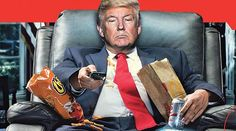 """Newsweek's new cover features Trump as Washington's """"Lazy Boy,"""" and it won't be one he's lauding for guests at his resorts."""