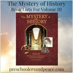 The Mystery of History Book Lists for Volume III — Preschoolers and Peace