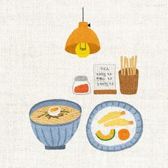 Tante S!fr@ loves this pin Food Drawing, Illustrations And Posters, Cute Drawings, Cute Wallpapers, Digital Illustration, Cute Art, Food Art, Illustrators, Design Art