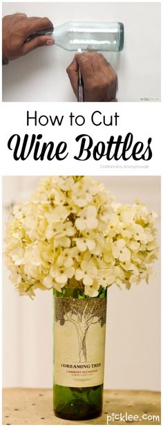 How to cut Wine Bottles using several different methods + tips, tricks, and tool recommendations. A must read!