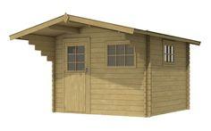 Tuinhuisje / blokhut  model Amoer 280 met afmetingen 280 x 280 cm van Woodvision Shed, Outdoor Structures, Model, Scale Model, Pattern, Models, Modeling, Sheds