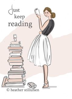 Book Art Just Keep Reading Quotes Art by RoseHillDesignStudio - Rose Hill Design Studio - Livre Reading Quotes, Book Quotes, Art Quotes, Inspirational Quotes, Motivational Quotes, Library Quotes, Motivational Wallpaper, I Love Books, Good Books