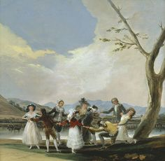 "Francisco de Goya: ""La gallina ciega"". Oil on canvas, 41 x 44 cm, 1788. Museo Nacional del Prado, Madrid, Spain"