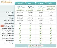 Ewedding pricing table ideas #pricing #pricingtable #design via @lizardwijanarko www.ahlidesain.com