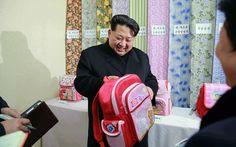 North Korean leader Kim Jong-Un inspecting the Kim Jong-Suk Pyongyang textile mill factory in Pyongyang.