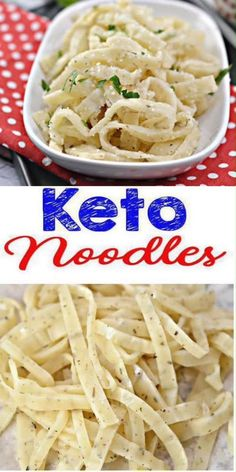 Yummy keto noodle recipe for the BEST low carb pasta noodles. A low carb noodle everyone loves. Low carb noodles with this pasta. Keto recipes easy to make & healthy - gluten free, sugar free. Keto dinner easy to prepare. Low ca Low Carb Noodles, Pasta Noodles, Gluten Free Noodles, Shirataki Noodles, Janta Low Carb, Comida Keto, Keto Lunch Ideas, Homemade Lunch Ideas, Simple Lunch Ideas