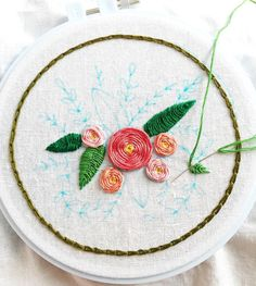 getting in some early morning stitching today and testing the floral sampler for my embroidery class.