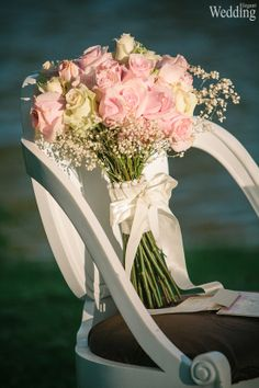 Wedding Bouquet   Pink Roses  Photography   Tiffany Smith & Dan Speer   Aura Atelier  See more at: http://www.elegantwedding.ca/