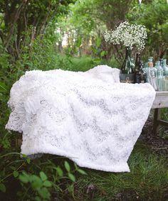 Look at this #zulilyfind! White Giselle Throw by Lush Décor #zulilyfinds