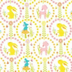 Oh i do love a good children's retro print. This is Woodland Tails Friends Pink