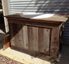 Rustic Bar Made from Reclaimed Wood