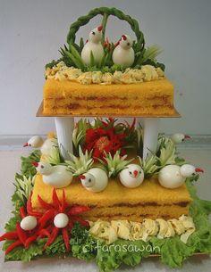 Last Birthday - Yellow Sauce - Food Carving Ideas Vegetable Decoration, Food Decoration, Cute Food, Yummy Food, Food Art For Kids, Food Garnishes, Garnishing, Vegetable Carving, Food Carving