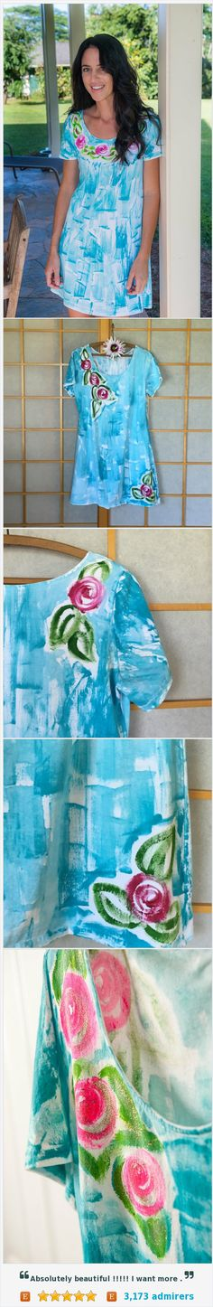 Hawaii Hand Painted Beach Dress Valentines Mothers Day #integritytt #epiconetsy #shoppingwomen @PromoteMyShop @HyperRTs  https://www.etsy.com/listing/110177555/