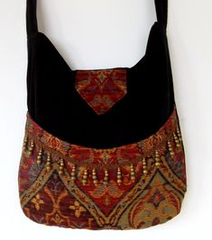 Bohemian Bag Fringed Ethnic Messenger Bag by piperscrossing, $64.00