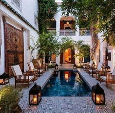 Riad in the medina Marrakech your nearest riad in medina Marrakech Morocco , don't hesitate to visit it Moroccan Garden, Moroccan Style, Moroccan Decor, Moroccan Bedroom, Moroccan Lanterns, Modern Moroccan, Moroccan Design, Riads In Marrakech, Marrakesh