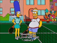 homer simpson marge simpson season 12 tennis homer episode 12 krusty the clown marge sideshow mel 12x12 via diggita.it #tennis