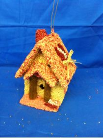Love Shack! Fun edible birdhouse for wild birds and decoration, too.