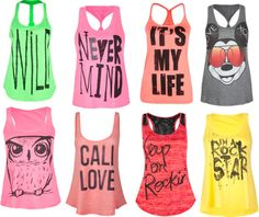 """""""Tillies Tank Tops :)"""" by blondieshay on Polyvore"""