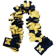 $14.99 Michigan Wolverines Navy Blue-Maize Rally Wrap Scarf