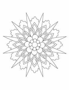 Kleuren.nu - sterren mandala kleurplaten