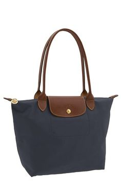 Longchamp 'Le Pliage' Medium Shoulder Tote in graphite   Nordstrom $125, a nice alternative to black or navy.
