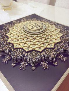 Esma hüsna kağıt rölyef... -  #Esma #hüsna Islamic Calligraphy, Calligraphy Art, Paper Art, Paper Crafts, Diy Crafts, Painting Words, Paper Engineering, Tile Art, Used Iphone