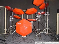 The iconic Simmons electronic drums