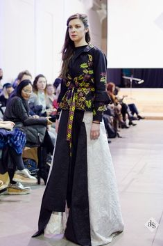 ALKHANSAS Modest Fashion with Batik Hitam (Black Batik), Batik Jawa, presented in Milan Fashion Show.