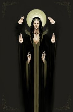hekate art Supreme goddess by ~MrNat Dark Fantasy Art, Dark Art, Psychedelic Art, Dark Souls, Character Inspiration, Character Art, Arte Obscura, Art Vintage, Esoteric Art