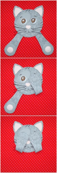 Peek-a-boo cat quiet book page
