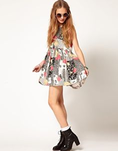 Image 4 of Minkpink Mini Dress in Patchwork Print