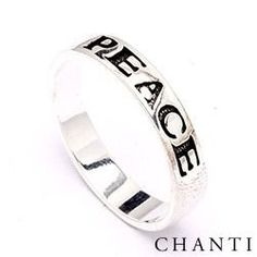 Peace ring in silver