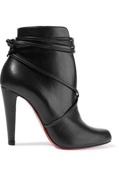 Christian Louboutin - S.i.t. Rain 100 Leather Ankle Boots - Black