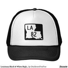 8d6d6efc6ba Louisiana Black   White Highway 82 Trucker s Hat