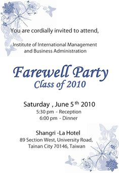 This Gergous Farewell Party Invitation Conu2026 Related Image