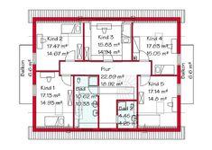 Das Dachgeschoss des Einfamilienhauses mit 114,5 m²