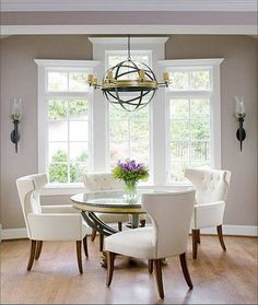 round glass kitchen dining table