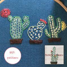 plus BONUS pattern_pdf / jpegjpg /The three cacti /cactus