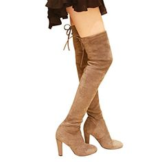 Kaitlyn Pan Women's Microsuede High Heel Over the Knee Thigh High Boots ** For more information, visit image link.