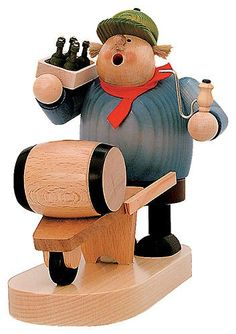 KWO Beer Barrel Deliveryman German Christmas Incense Smoker Made in Germany New *** Check out this great product. Smoker Stand, German Christmas Pyramid, German Nutcrackers, Wooden Advent Calendar, Red Geraniums, Wooden Figurines, Christmas Wood, Bottle Stoppers, Wooden Crafts