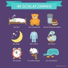 It is always good to know some German words for the bedroom #language #words #german #hacks